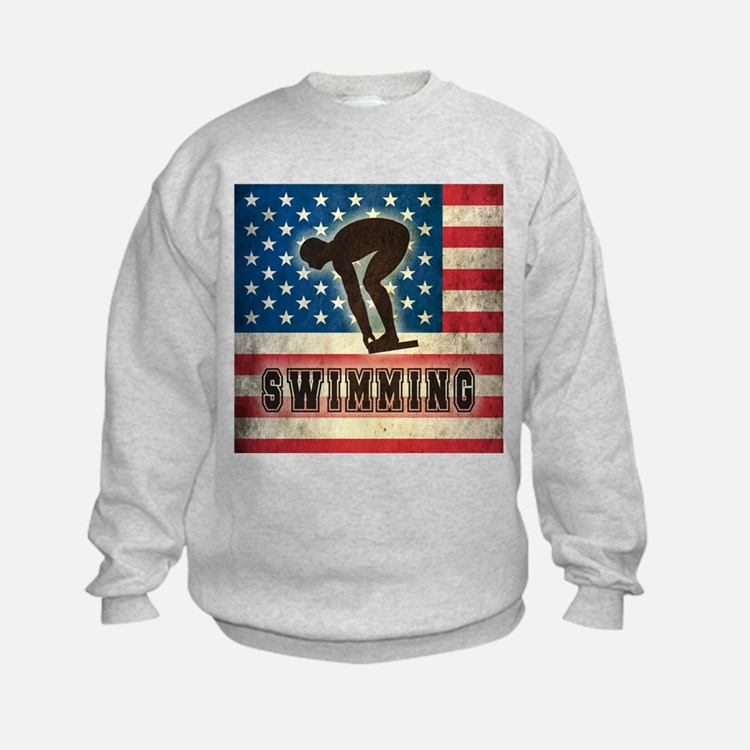 Grunge USA Swimming Sweatshirt
