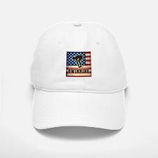 Grunge USA Swimming Baseball Baseball Cap