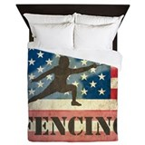 Fencing Luxe Full/Queen Duvet Cover