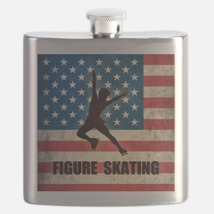 Grunge USA Figure Skating Flask