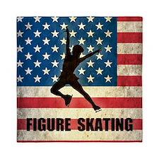 Grunge USA Figure Skating Queen Duvet