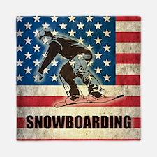Grunge USA Snowboarding Queen Duvet