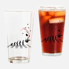 Broke Businessman Drinking Glass