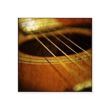 "Vintage Guitar Square Sticker 3"" x 3"""