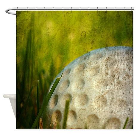 Vintage Golf Ball Shower Curtain