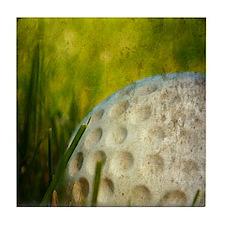 Vintage Golf Ball Tile Coaster