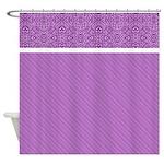 Purple Design Shower Curtain