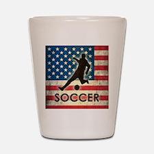 Grunge USA Soccer Shot Glass