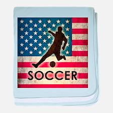 Grunge USA Soccer baby blanket