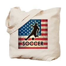 Grunge USA Soccer Tote Bag