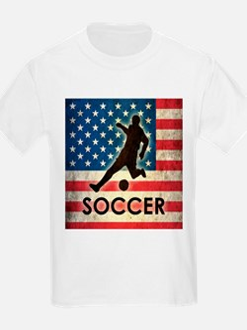 Grunge USA Soccer T-Shirt