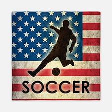 Grunge USA Soccer Queen Duvet