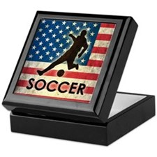 Grunge USA Soccer Keepsake Box