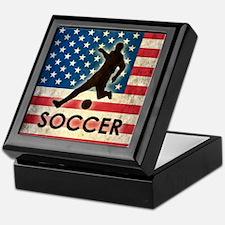 Grunge USA Soccer Keepsake Box