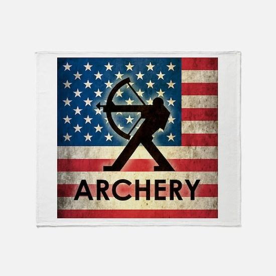 Grunge USA Archery Throw Blanket