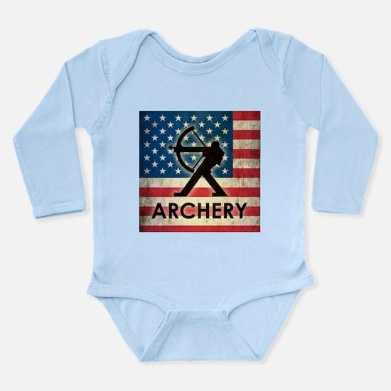 Grunge USA Archery Long Sleeve Infant Bodysuit