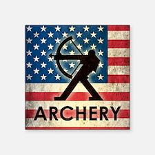 "Grunge USA Archery Square Sticker 3"" x 3"""