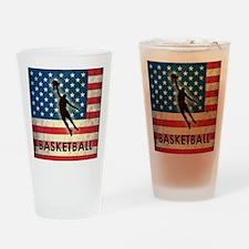 Grunge USA Basketball Drinking Glass
