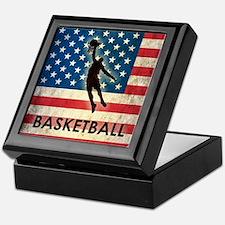 Grunge USA Basketball Keepsake Box