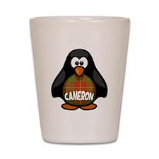 Cameron Tartan Penguin Shot Glass