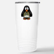 Campbell Tartan Penguin Stainless Steel Travel Mug