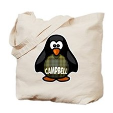 Campbell Tartan Penguin Tote Bag