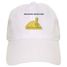 3rd Infantry (The Old Guard) with Text Baseball Baseball Cap