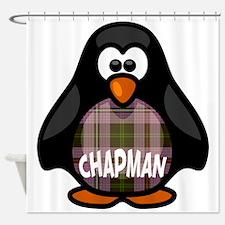 Chapman Tartan Penguin Shower Curtain