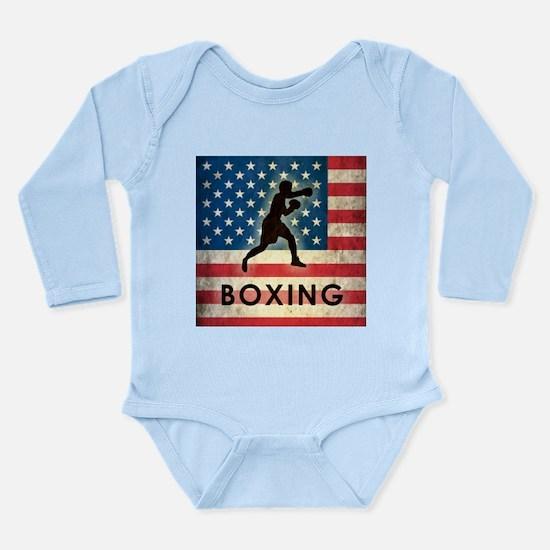 Grunge USA Boxing Long Sleeve Infant Bodysuit
