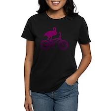 Purple Flamingo on Bicycle Mosaic Tee