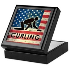 Grunge USA Curling Keepsake Box