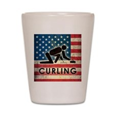 Grunge USA Curling Shot Glass