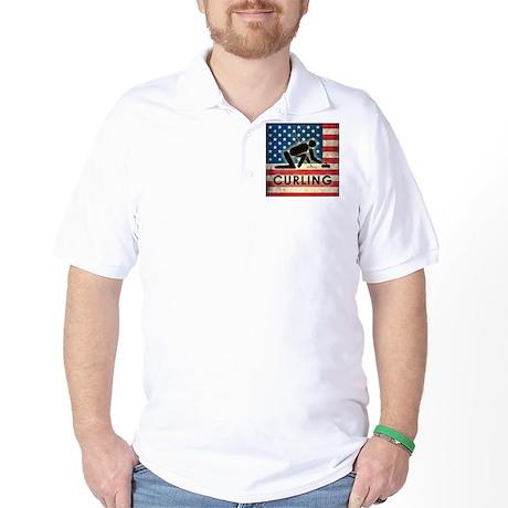 Grunge USA Curling Golf Shirt
