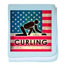 Grunge USA Curling baby blanket