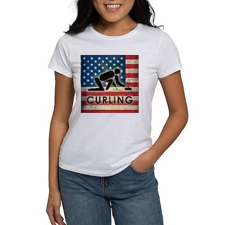 Grunge USA Curling Women's T-Shirt
