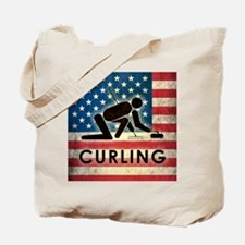 Grunge USA Curling Tote Bag
