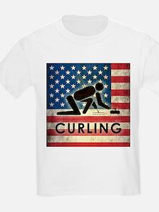 Grunge USA Curling T-Shirt