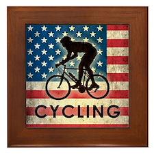 Grunge USA Cycling Framed Tile