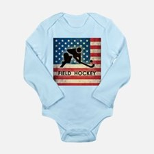 Grunge USA Field Hockey Long Sleeve Infant Bodysui