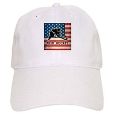 Grunge USA Field Hockey Baseball Cap