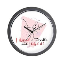 I kissed a poodle Wall Clock