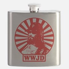 WWJD RED WHT.png Flask
