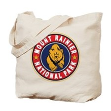 Mt Rainier Red Circle Tote Bag