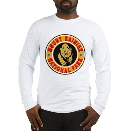 Mt Rainier Gold Circle Long Sleeve T-Shirt