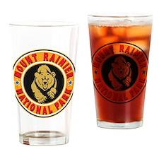 Mt Rainier Gold Circle Drinking Glass
