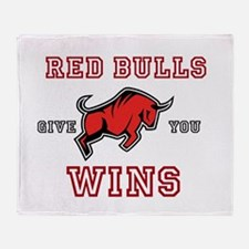 Red Bulls Give You Wins Throw Blanket