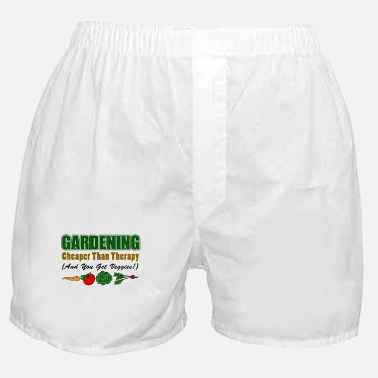 Gardening Cheaper Than Therapy Boxer Shorts