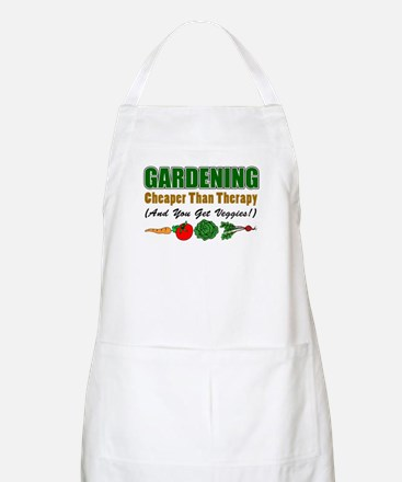 Gardening Cheaper Than Therapy Apron