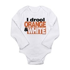 IDroolOrangeWhite Body Suit