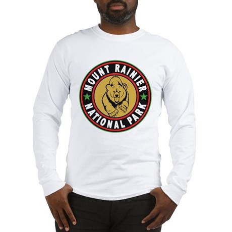 Mt Rainier Black Circle Long Sleeve T-Shirt